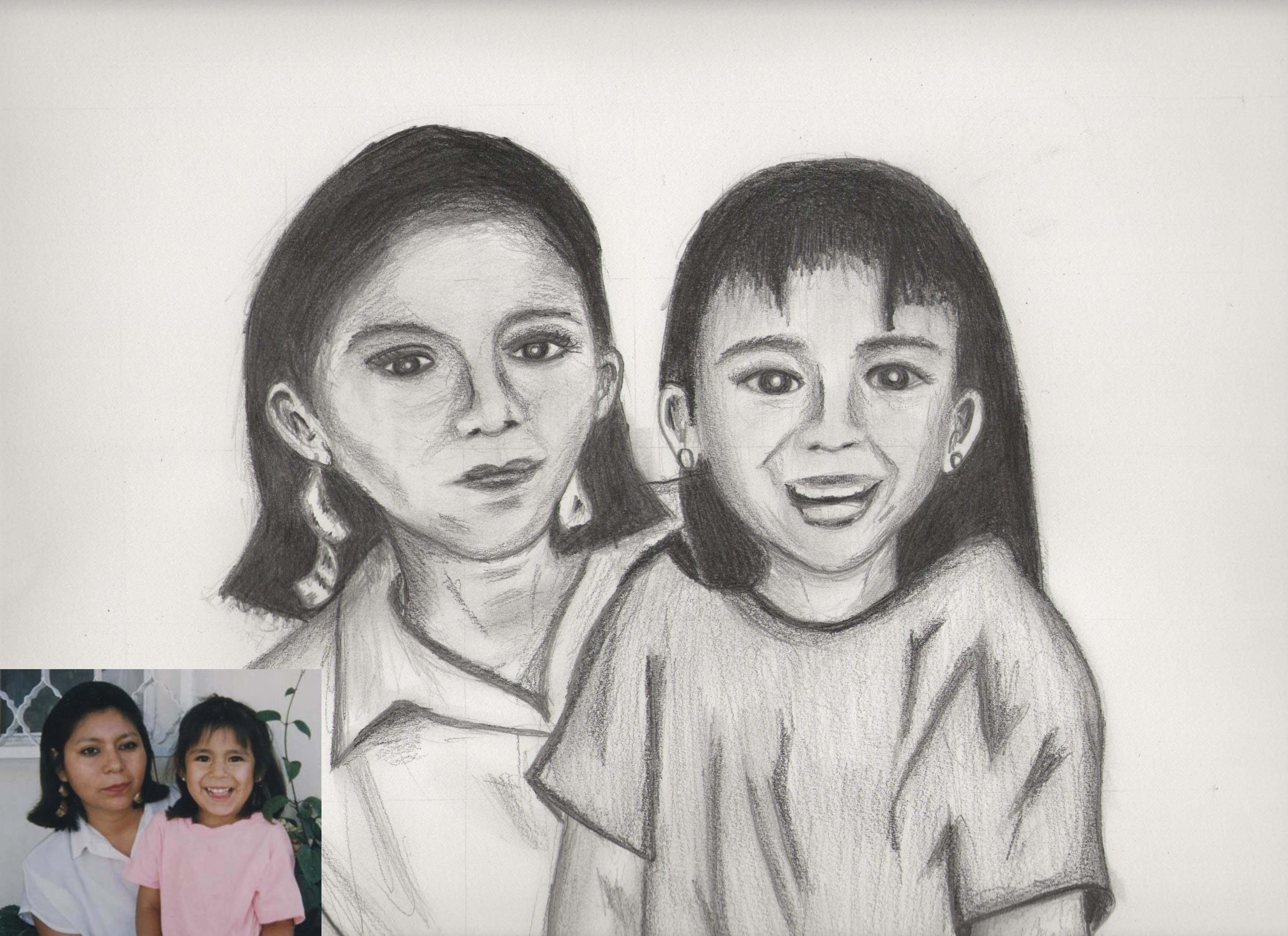 Dibujo a Lapiz: Este es un dibujo que hice para el dia de las madres ...