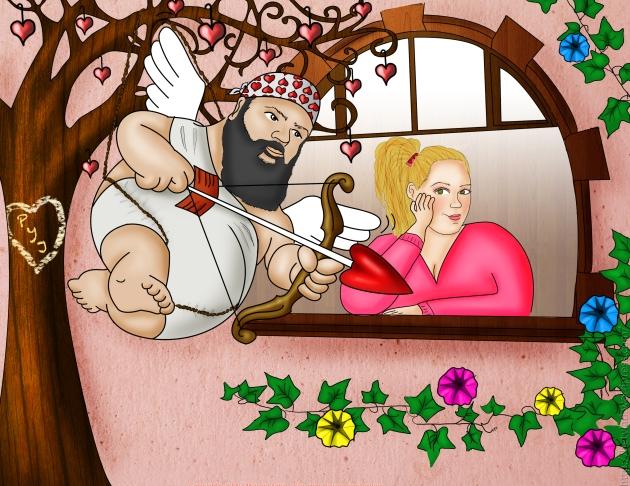 Caricatura para San Valentin         por: Beatriz Asato