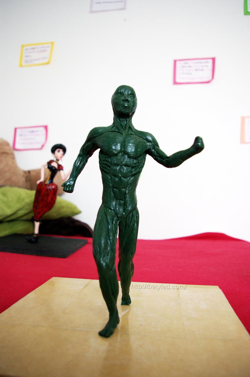 Escultura de sistema muscular – Beatriz Asato
